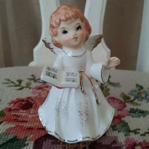 Vintage Homco Ceramic Angel Chorus Girl figurine